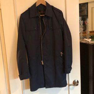 Ben Sherman blue trench coat. Men's size small